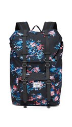 Herschel Little America Backpack Floral Blur Black
