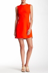 L.A.M.B. Sculpted Crepe Dress Orange