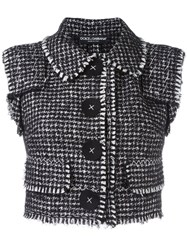 Dolce And Gabbana Boucle Gilet Black