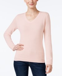 Charter Club Cashmere V Neck Sweater Only At Macy's 18 Colors Available Parasol Pink