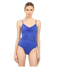 Adidas By Stella Mccartney Swimsuit Cover Up Padded Ao4766 Bold Blue Women's Swimsuits One Piece