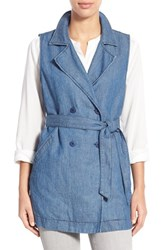 Women's Sanctuary 'Walker' Belted Double Breasted Denim Vest