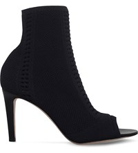 Gianvito Rossi Vires Perforated Ankle Boots Black