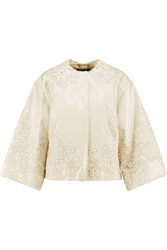 Dolce And Gabbana Appliqued Patent Leather Jacket