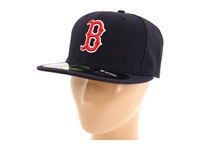 New Era Authentic Collection 59Fifty Boston Red Sox Home Road Baseball Caps Navy