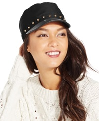 August Hats Military Cap With Studs Black