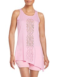 Nanette Lepore Asymmertical Laser Cut Tank Primrose Heather