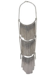 Emanuele Bicocchi Fringed Necklace Metallic