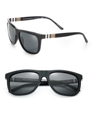 Burberry 58Mm Square Sunglasses Black Brown