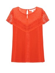 Diane Von Furstenberg Lauryn Top Orange