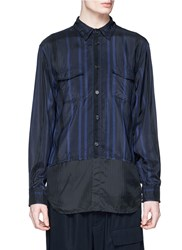 3.1 Phillip Lim Wired Trim Military Cupro Shirt Jacket Blue