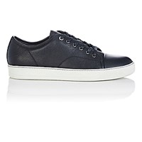 Lanvin Men's Cap Toe Low Top Sneakers Black White Blue Black White Blue