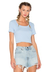 Cotton Citizen Melbourne Crop Tee Blue