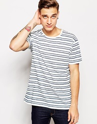 Pullandbear Striped T Shirt White
