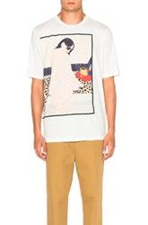 3.1 Phillip Lim Woman Seated On Leopard Tee In White