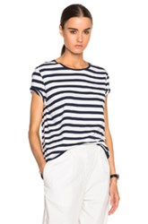 Acne Studios Rigoletto Tee In Blue White Stripes