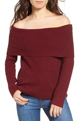 Love By Design Women's Off The Shoulder Rib Knit Sweater