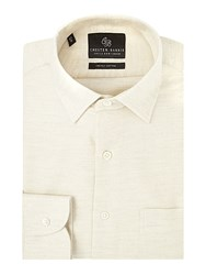 Chester Barrie Men's Contemporary Brushed Flannel Shirt Ivory