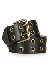 Topshop Women's Double Row Grommet Faux Leather Belt