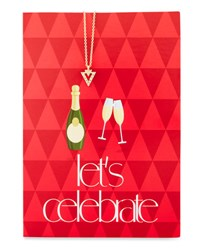 Lydell Nyc Triangle Necklace With Let's Celebrate Card Gold