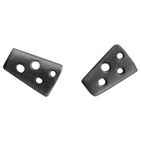 Dana Bronfman Helena Stud Earrings Black Rhodium Plated Sterling Silver