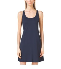 Michael Kors Logo Ring Racerback Cover Up Navy White