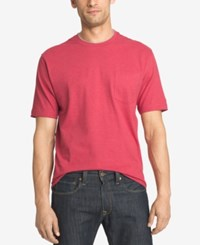 Izod Solid Double Layer Jersey Pocket T Shirt Claret Red