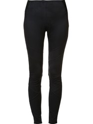 Elie Tahari Diagonal Detailing Leggings Black