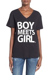 Women's Boy Meets Girl Logo Tee