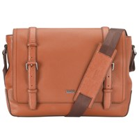 Boss Logo Boss Mauno Leather Messenger Bag Tan