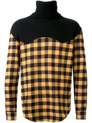 Palm Angels Checked High Neck Pullover Black