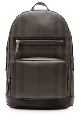 Burberry Shoes And Accessories Marden Checked Backpack Brown