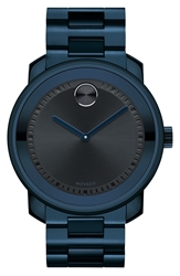 Movado 'Bold' Bracelet Watch 44Mm Navy