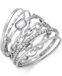 Inc International Concepts Gold Tone Crystal Enhanced Multi Bangle Bracelet Only At Macy's Silver