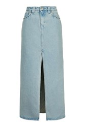 Caius Denim Maxi Skirt By Unique