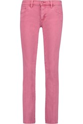 Tory Burch Cropped Low Rise Bootcut Jeans Pink