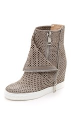 Casadei Perforated Double Zip Boots Rodio White