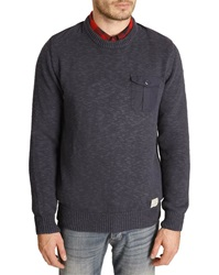 Wrangler Navy Sweater With Elbow Patches