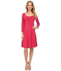Mod O Doc Cotton Modal Spandex Jersey Ruched Babydoll Dress Rosily Women's Dress Red