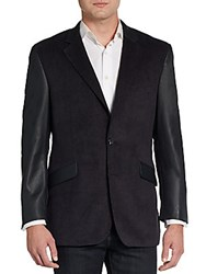 Saks Fifth Avenue Red Slim Fit Mixed Media Sportcoat Charcoal
