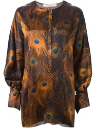 Givenchy Peacock Feather Print Blouse Multicolour