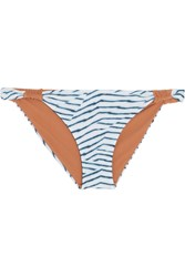 Vix Swimwear Dune Printed Bikini Briefs Light Blue