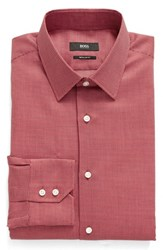 Boss Men's Big And Tall Enzo Regular Fit Geometric Dress Shirt