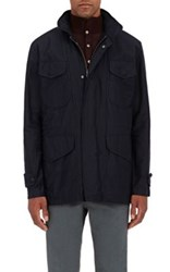 Eidos Men's Cotton Canvas Hooded Field Jacket Navy