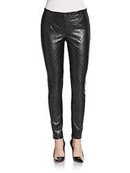 Saks Fifth Avenue Red Quilted Faux Leather Pants Black
