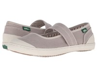 Simple Cactus Beige Stone Washed Canvas Women's Maryjane Shoes Gray