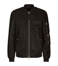 Allsaints Rogan Shearling Bomber Jacket Male Black