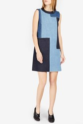 Victoria Beckham Women S Patchwork Denim Dress Boutique1 Blue