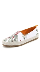 Mulo X Hentsch Man Slip On Shoes White Floral