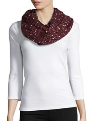 Joolay Metallic Knit Loop Scarf Elderberry